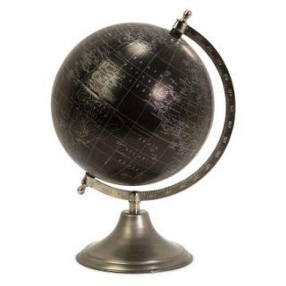 Moonlight 9 in. Diam. World Globe with Nickel Finish Stand   Globes