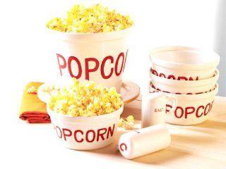 Everybody Loves 7 Piece Popcorn Set, Enjoy (JY): Kitchen & Dining
