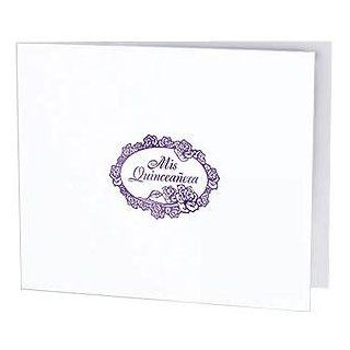 Mis Quinceanera foil on white cardboard photo folder frame Our price is for 50 pcs   4x6