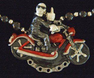 Bones Skeleton Phantom Ghost Motorcycle Bike Rider Mardi Gras Bead Necklace Spring Break Cajun Carnival Festival New Orleans Beads