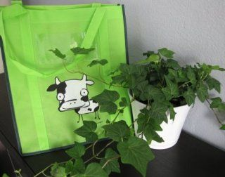 Moo Cow on Lime Green Bag with Green Trim: Everything Else
