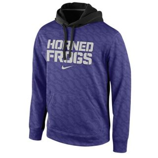 Nike College KO ThermaFit Pullover Hoodie   Mens   Football   Clothing   TCU Horned Frogs   New Orchid
