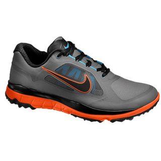 Nike FI Impact Golf Shoe   Mens   Golf   Shoes   Medium Grey/Black/Team Orange/Vivid Blue