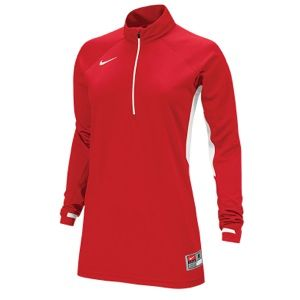 Nike Team Victory L/S Shooting Shirt   Womens   Basketball   Clothing   Scarlet/White