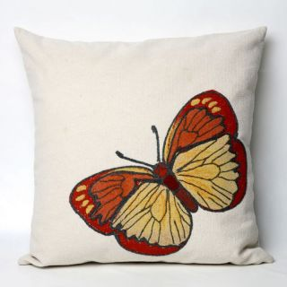 Liore Manne Butterfly Orange Pillow Set   Decorative Pillows