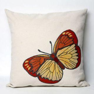 Liore Manne Butterfly Orange Pillow Set   Decorative Pillows