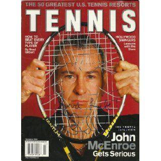 Tennis. November 2002. The Tennis Interview John McEnroe Gets Serious Tennis Magazine, Mark Woodruff Books