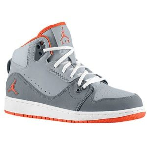 Jordan 1 Flight 2   Boys Grade School   Basketball   Shoes   Cool Grey/Team Orange