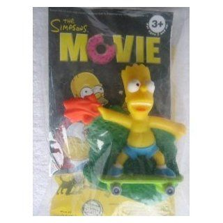 Bart Simpson on Skateboard   Burger King The Simpsons Movie Toy 2007  Other Products