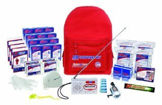 ER Emergency Ready 4 Person Deluxe Backpack Survival Kit: Sports & Outdoors