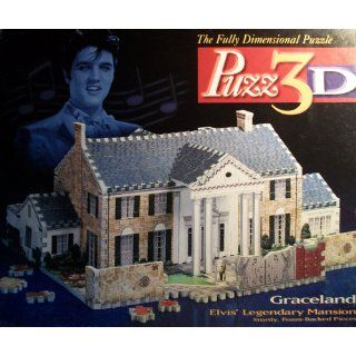 Elvis Presley Graceland, 350 Piece 3D Jigsaw Puzzle Made by Wrebbit Puzz 3D Toys & Games