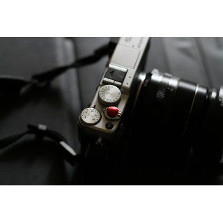 10MM Diameter Red Metal Convex Soft Shutter Release Button for Fujifilm X100 Leica M6 M8 M9 / Nikon, Canon, Hasselblad, Olympus, Minolta, Rolleiflex SLR Cameras  Camera Cases  Camera & Photo