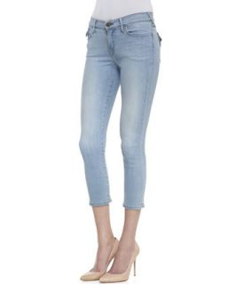 Womens Serena Moments Notice Cropped Light Wash Skinny Jeans   True Religion
