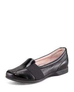 Taurus Gored Slip On Loafer   Taryn Rose   Black (35.5B/5.5B)