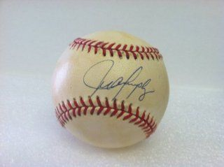 Juan Gonzalez Autographed Baseball This baseball has yellow spotting and is sold as is at 's Sports Collectibles Store