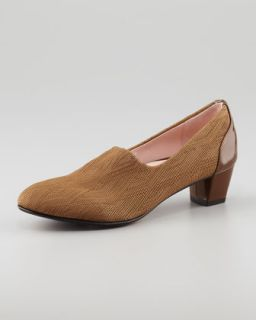 Fiona Woven Low Heel Loafer   Taryn Rose   Brown metallic (36.0B/6.0B)