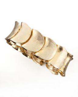 Large Gold Plated Shingle Bracelet   Robert Lee Morris   Gold (LARGE )