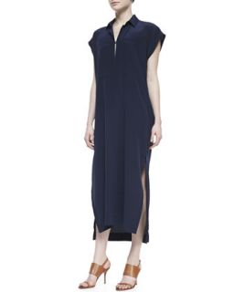 Womens Oversized Two Pocket Maxi Dress   10 Crosby Derek Lam   Midnight (6)