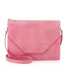 Kirsten Pebble Leather Shoulder Bag, Pink   Eric Javits