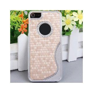iBee Series Smooth Fit Case for iPhone 5 Case (Inspire From Hexagon Mosaic Style)   Golden Honeycomb Color