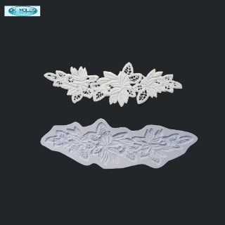 O.K Molds silicone cake decorating fondant gompaste supply lace M5067 Decorative Cake Toppers Kitchen & Dining