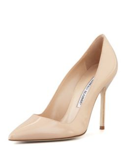 BB Patent 105mm Pump, Nude (Made to Order)   Manolo Blahnik   Nude (40.0B/10.0B)