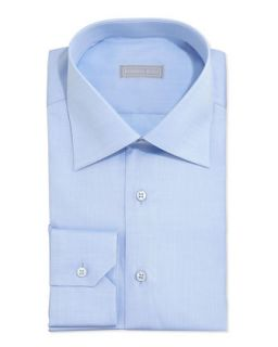 Mens Basic Solid Barrel Cuff Dress Shirt, Blue   Stefano Ricci   Blue (41/16)
