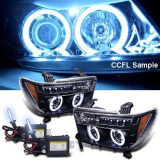 Eautolight 8000k Slim Xenon HID Kit + 07 11 Toyota Tundra Ccfl Halo LED Projector Headlights: Automotive