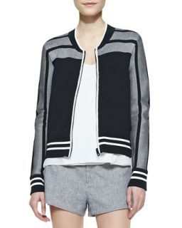 Womens Sammi Jersey Zip Front Jacket   Rag & Bone   Kp/Midnight (MEDIUM)