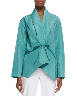 Womens Oasis Tie Front Topper   Lafayette 148 New York   Azure (PETITE)