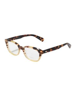 Michaela Rectangle Fashion Glasses, Spotted Tortoise   Oliver Peoples   Spotted