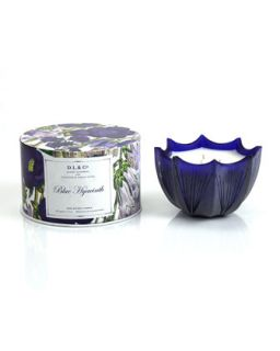 Blue Hyacinth Scalloped Three Wick Candle, 15oz   D.L. & Company   Blue (15oz ,