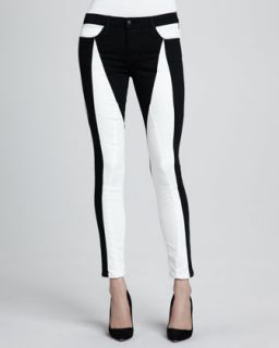 Womens Tansy Seamstress Two Tone Skinny Jeans   Joes Jeans   White/Black