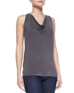 Womens Extrafine Soft Touch Draped Tank   Majestic Paris for