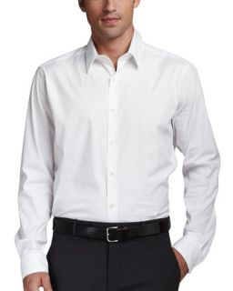Mens Stretch Cotton Shirt, White   Theory   White (SMALL)