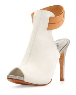 Samantha Peep Toe Pump, White/Luggage   Pedro Garcia   White/Luggage (38.0B/8.