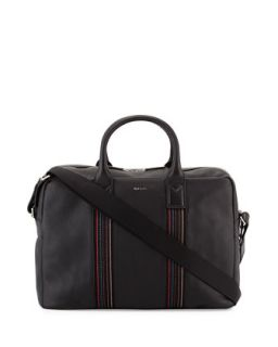 Mens Stripe Webbing Large Briefcase, Black   Paul Smith   Black (LARGE )