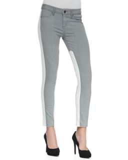 Womens Quinn Two Tone Stretch Skinny Jeans   Paige Denim   Faded grey/White