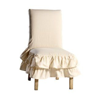 Shop 100 Percent Cotton Tiered Ruffled Washable Home Dining Chair Cover Slipcovers Furniture! Theses Chair Slipcovers Are Great for Special Occasions Such As Parties, Special Dinners or a Wedding. In Addition, Dining Chair Covers Can Be Used in Your Home!