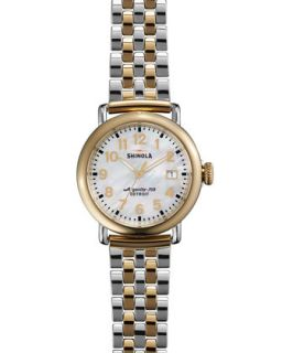 The Runwell Two Tone Watch with Bracelet Strap, 36mm   Shinola   Silver/Gold