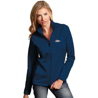 Antigua Denver Broncos Womens Leader Full Zip Jacket   Size: L, Navy