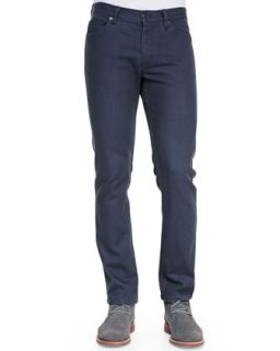 Mens Five Pocket Straight Leg Jeans, Dark Gray   Theory   Grey (32)