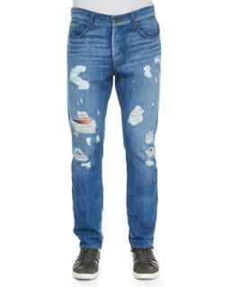 Mens Sartor Ryder Ripped Jeans, Light Blue   Hudson Jeans   Light blue (31)