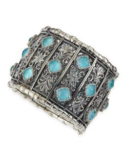 Turquoise Doublet Cuff Bracelet   Konstantino   Turquoise