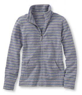 Ultrsoft Sweats, Full Zip Mockneck Jacket, Stripe