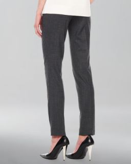 Womens Samantha Skinny Tropical Wool Pants   Michael Kors   Charcoal (4)