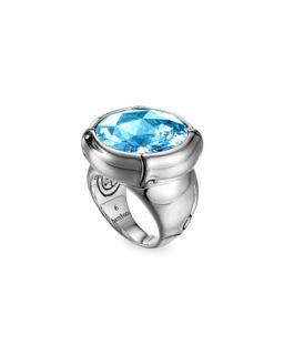 Batu Bamboo Silver Blue Topaz Ring   John Hardy   Silver (7)
