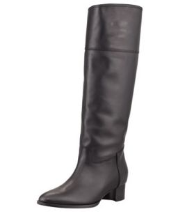 Equestra Knee High Boot, Black   Manolo Blahnik   Black (40.0B/10.0B)
