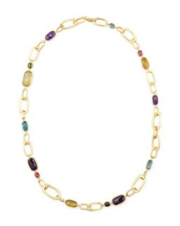 Murano 18k Multi Stone Large Link Necklace, 27L   Marco Bicego   (18k )