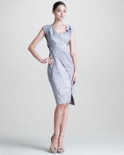 Womens Mineral Paper Crushed Dress   Donna Karan   Quartz (12)